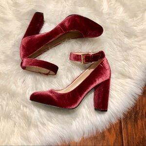 NINE WEST Red Velvet Heels